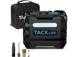 TACKLIFE A6 Car Tire Inflator 12V DC Portable Air Compressor Orange, Blue, Red and Yellow