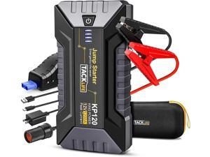 TACKLIFE KP120 1200A Peak Car Jump Starter for up to 8L Gas and 6L Diesel Engines, 12V Car Booster, Portable Power Pack with QC 3.0 and Type-C Port - KP120