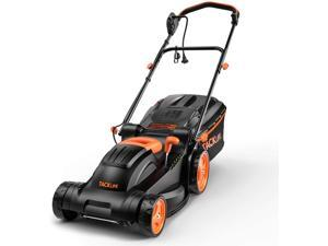 TACKLIFE - KALM12A Lawn Mower, 14 Inch Electric Lawn Mower, 6 Cutting Heights (0.98''-2.95''), Single Lever Adjustable , Tool-Free Installation, Suitable For Small & Medium Gardens