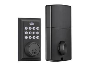 TACKLIFE D1 Keyless Entry Deadbolt Lock, Electronic Keypad Door Lock, Auto Lock,Stain Nickel-D1