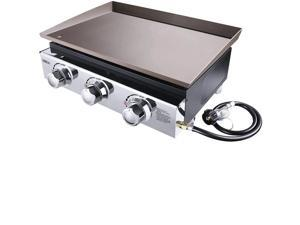 TACKLIFE TGG03 23-inch Propane Gas Stainless Steel Griddle 3 Burners TGG03