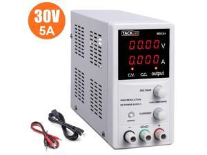 TACKLIFE DC Power Supply Variable, Switching DC Regulated Power Supply with 4 Digital LCD Display (0-30V/0-5A) - MDC01, White