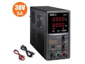 TACKLIFE DC Power Supply Variable, Switching DC Regulated Power Supply with 4 Digital LCD Display (0-30V/0-5A) - MDC01