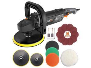 TACKLIFE PPGJ01A-Buffer Polisher 7-Inch 12.5Amp, With 6 Variable Speeds, Digital Screen, Lock Switch, Detachable Handle