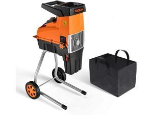 TACKLIFE TKWS01A Wood Chipper, 15-Amp Garden Shredder, Max 1.77-in Cutting Capacity, Compact & Light-Weight Compost Shredder, Adjustable Cutting Blade, 60L Collection Bag, TKWS01A