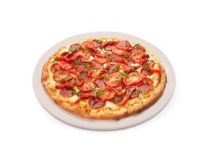 Pizza Stone, Round Pizza Stone for Grill and Oven, 15 inch Cordierite Pizza Pan, Perfect Size for Personal Pizza, Ideal for Baking Crisp Crust Pizza, Bread, Cookies and More