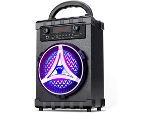 JYX Portable Bluetooth Speaker Karaoke Machine, Subwoofer Heavy Bass Wireless with Light, Support FM Radio, REC, USB/TF Card, AUX in, Perfect for Indoor & Outdoor Party