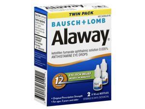 Alaway Antihistamine Eye Drops 2 x 0.34 fl oz (10 ml)