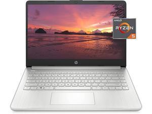 HP 14 Laptop, AMD Ryzen 5 5500U, 8 GB RAM, 256 GB SSD Storage, 14-inch Full HD Display, Windows 10 Home, Thin & Portable, Micro-Edge & Anti-Glare Screen, Long Battery Life, with AHAGHUG hdmi cable