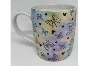 Disney Parks Positively Minnie Mouse Bows Polka Dots Mickey Heads Coffee Mug New