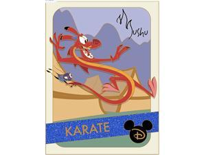 Disney Parks Mushu Pin Mulan Trading Cards: Karate Limited Edition New with Card