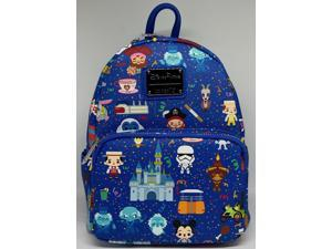 Disney Parks Characters And Attractions Mini Backpack New with Tags