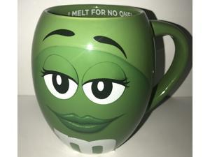 M&M's World Green Character Barrel I Melt for No One Mug New