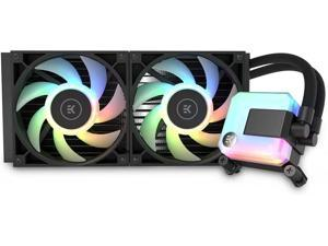 EK 280mm AIO D-RGB All-in-One Liquid CPU Cooler with EK-Vardar High-Performance PMW Fans, Water Cooling Computer Parts, 360mm Fan, Intel 115X/1200/2066, AMD AM4