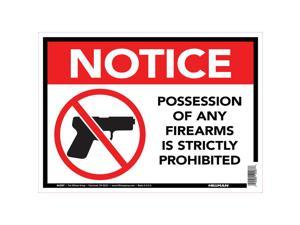 Hillman English White Safety Sign 10 in. H x 14 in. W - Case Of: 6;