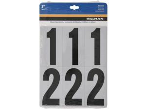 Hillman 3 in. Reflective Black Mylar Self-Adhesive Number Set 0-9 26 pc. - Case Of: 6;