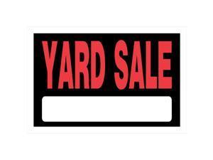 Hillman English Black Garage Sale Sign 8 in. H x 12 in. W - Case Of: 6;