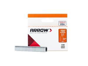 Arrow Fastener  T25  1/4 in. W x 9/16 in. L 18 Ga. Round Crown  Wire Staples  1100 pk - Case Of: 5; Each Pack Qty: 1000; Total Items Qty: 5000