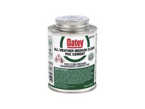 Oatey Clear All Weather Cement For PVC 8 oz. - Case Of: 12;