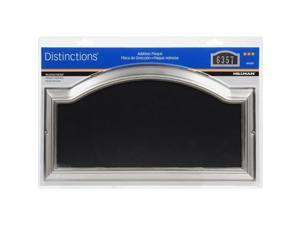 Hillman Distinctions Brushed Nickel Plastic Rectangle Address Plate - Case Of: 3;