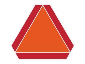 Hillman English Orange/Red Slow Moving Vehicle Sign 14 in. H x 16 in. W - Case Of: 6;