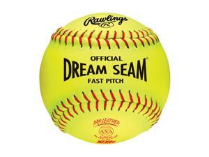 Rawlings Official Dream Seam Fastpitch 12 in. Softball - Case Of: 12; Each Pack Qty: 1;
