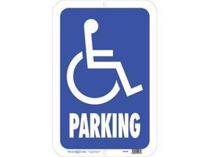 Hillman English Blue Handicap Sign 19 in. H x 15 in. W - Case Of: 5;