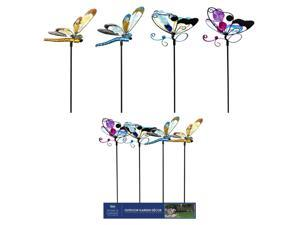 Alpine Metal Assorted 22 in. H Butterfly or Dragonfly Outdoor Garden Stake - Case Of: 1