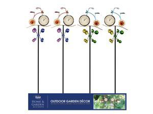 Alpine Metal Assorted 46 in. H Bicycle Thermometer Kinetic Outdoor Garden Stake - Case Of: 8;