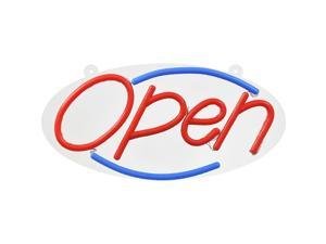 Hillman Plastic Indoor and Outdoor LED Lighted Open Sign - Case Of: 1;