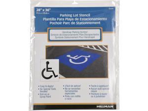 Hillman English White Handicap Parking Lot Stencil 28 in. H X 36 in. W - Case Of: 1;