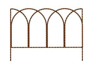 Master Mark 20 in. L x 14 in. H Steel Brown Leaf Border Edging - Case Of: 12; Each Pack Qty: 1;