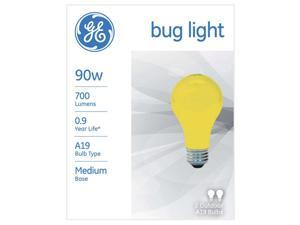 GE 90 watts A19 A-Line Incandescent Bulb E26 (Medium) Yellow 2 pk - Case Of: 12; Each Pack Qty: 2; Total Items Qty: 24