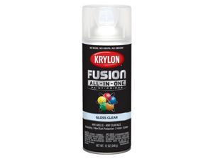 Krylon  Fusion All-In-One  Gloss  Clear  Paint + Primer Spray Paint  12 oz. - Case Of: 6;