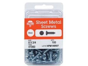 Hillman No. 6  x 1/2 in. L Phillips Pan Head Zinc-Plated Steel Sheet Metal Screws 100 1 pk - Case Of: 10; Each Pack Qty: 100; Total Items Qty: 1000
