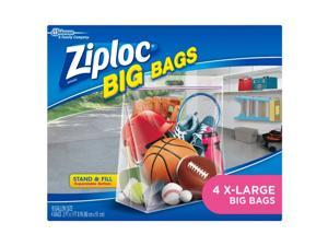 Ziploc Big Bags 10 gal. Clear Storage Bag - Case Of: 4;