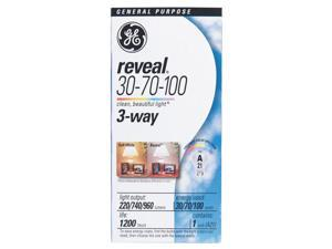 GE Reveal 30/70/100 watts A21 Three Way Bulb A-Line Incandescent Bulb E26 (Medium) Soft White - Case Of: 12; Each Pack Qty: 1