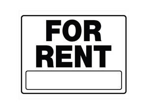 Hillman English White For Rent Sign 20 in. H x 24 in. W - Case Of: 6;