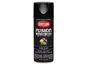 Krylon  Fusion All-In-One  Gloss  Black  Paint + Primer Spray Paint  12 oz. - Case Of: 6;