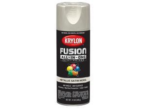 Krylon  Fusion All-In-One  Metallic  Satin Nickel  Paint + Primer Spray Paint  12 oz. - Case Of: 6;