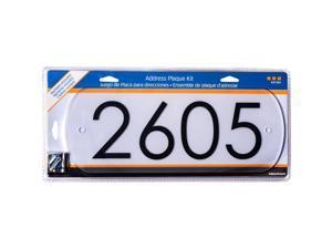 Hillman White Plastic Rectangle Modern Address Kit - Case Of: 3;