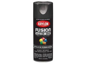 Krylon  Fusion All-In-One  Metallic  Oil Rubbed Bronze  Paint + Primer Spray Paint  12 oz. - Case Of: 6;