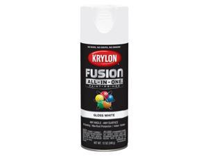 Krylon  Fusion All-In-One  Gloss  White  Paint + Primer Spray Paint  12 oz. - Case Of: 6;