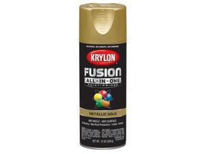Krylon  Fusion All-In-One  Metallic  Gold  Paint + Primer Spray Paint  12 oz. - Case Of: 6;