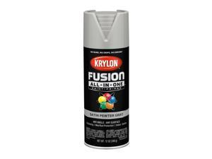 Krylon  Fusion All-In-One  Satin  Pewter Gray  Paint + Primer Spray Paint  12 oz. - Case Of: 6;