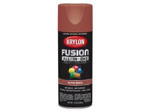 Krylon  Fusion All-In-One  Satin  Brick  Paint + Primer Spray Paint  12 oz. - Case Of: 6;