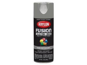 Krylon  Fusion All-In-One  Gloss  Vintage Gray  Paint + Primer Spray Paint  12 oz. - Case Of: 6;