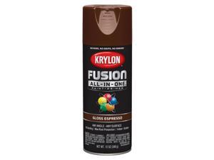 Krylon  Fusion All-In-One  Gloss  Espresso  Paint + Primer Spray Paint  12 oz. - Case Of: 6;