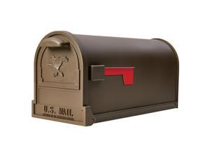 Gibraltar Mailboxes Arlington Classic Galvanized Steel Post Mount Bronze Mailbox - Case Of: 1;
