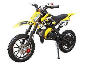 SYX MOTO Kids Dirt Bike Holeshot 50cc Gas Power Mini Dirt Bike Pit Bike Fully Automatic Transmission Yellow